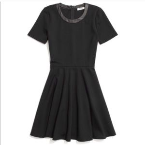 Madewell leather trim dress. Size M